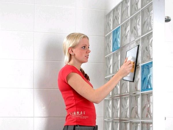 Стены и перегородки из стеклоблоков своими руками