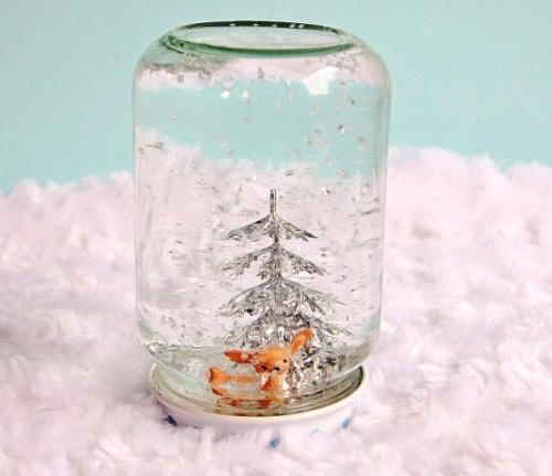 Как в домашних условиях сделать шар со снегом