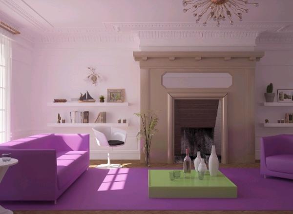 Фиолетовый шик в квартире