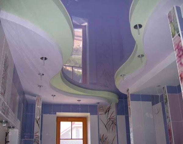 Ремонт потолка в ванной комнате: варианты и решения