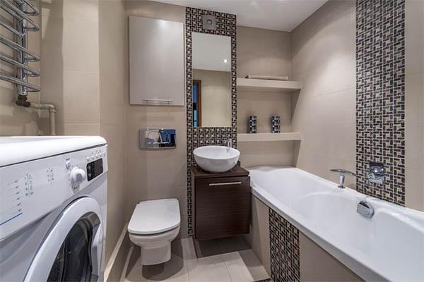 Интерьер для небольшой ванной комнаты