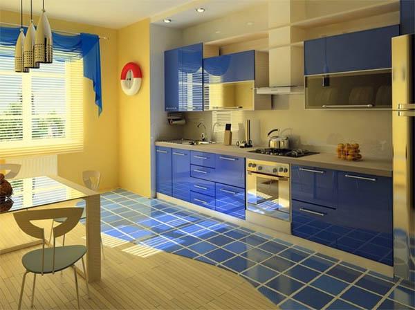 Кухня в морском стиле: цвета, отделочные материалы, аксессуары