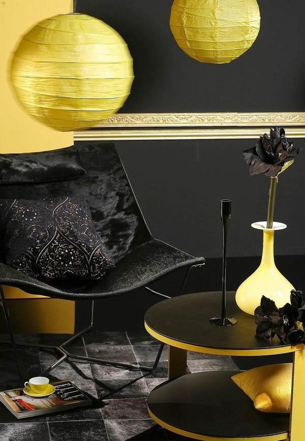 Мебель и аксессуары цвета солнца