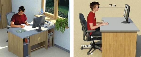 Как установить письменный стол дома, чтобы не испортить здоровье?