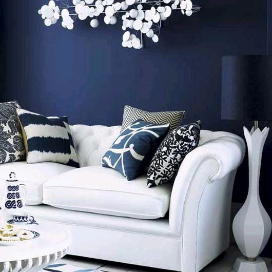 Темно-синий цвет в интерьере