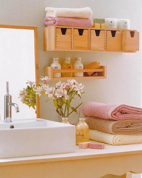 Творческие идеи для систем хранения в маленькой ванной