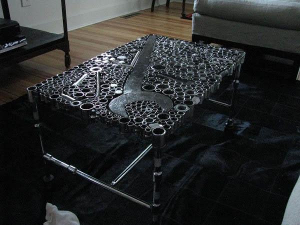 Журнальные столы из запчастей