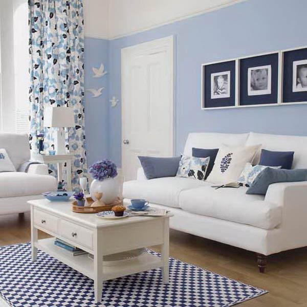 Голубой цвет в интерьере: сдержанный аристократизм