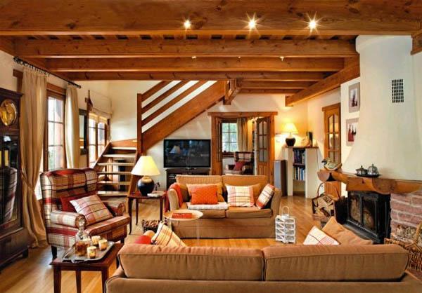 Особенности дизайна интерьера загородного дома