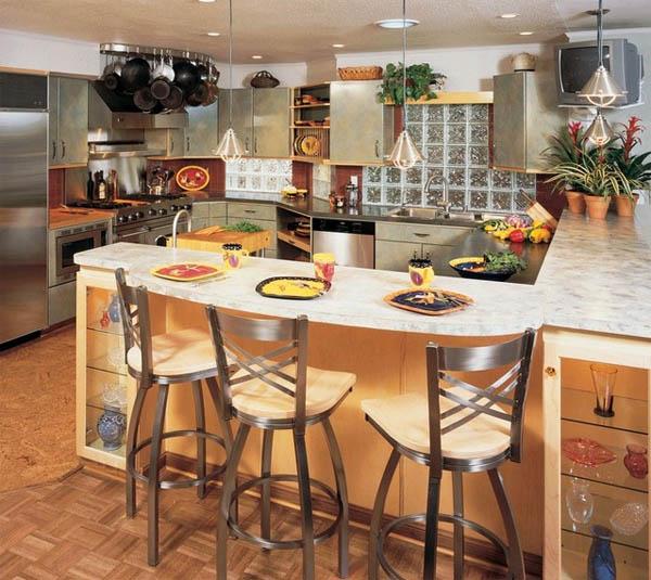Барная стойка на кухне: функционально, красиво, универсально