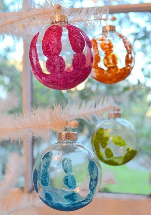 Необычные новогодние шары своими руками
