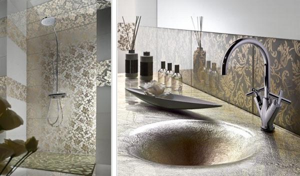 Настенная плитка для ванной из стекла