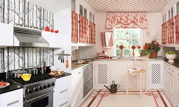 Обои на кухне: фото-идеи