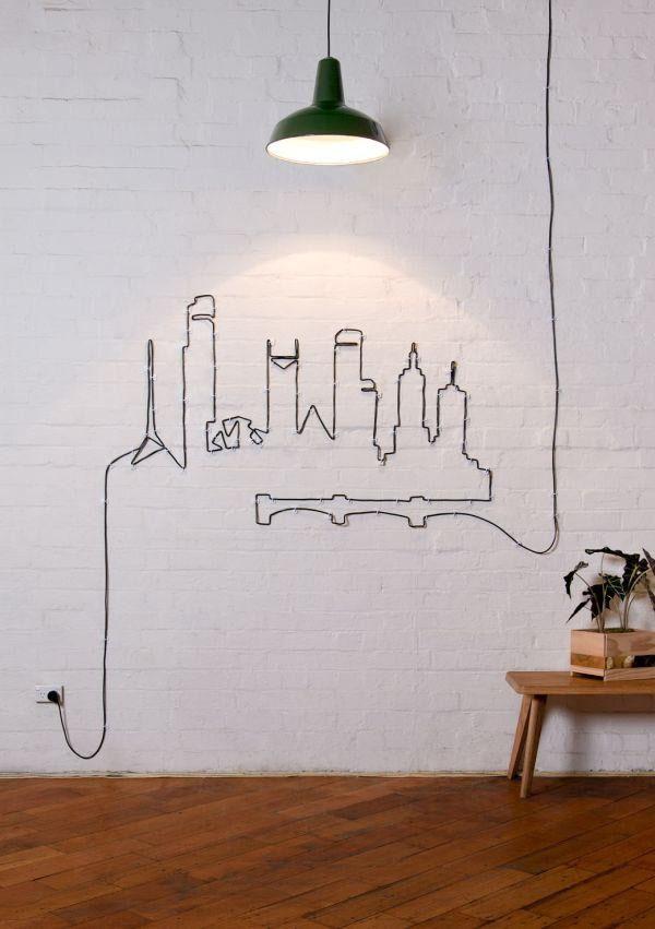 Кабель, как украшение стен