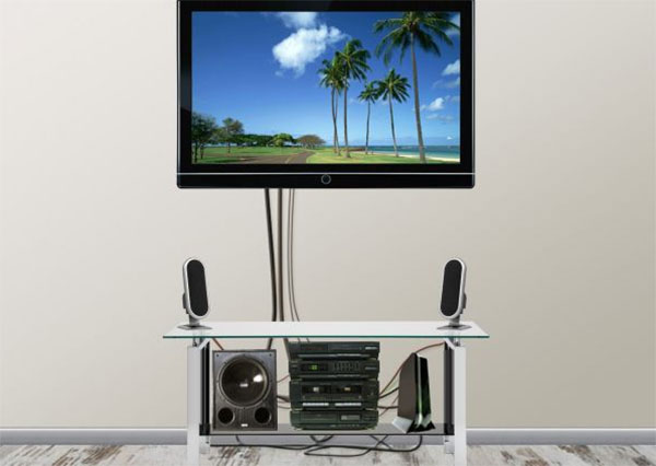 Как скрыть провода от телевизора?