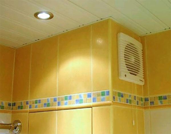 Устанавливаем вентилятор в ванную комнату