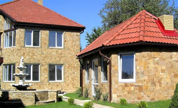 Применение натурального камня в частном домостроении