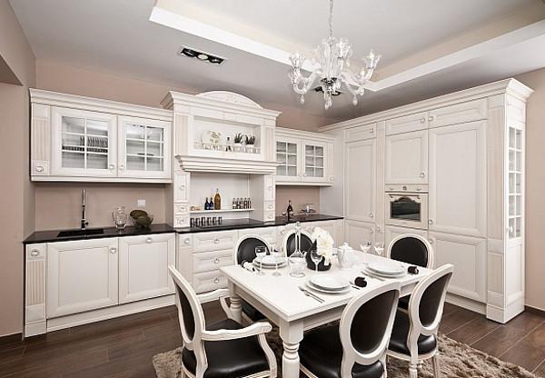 Мебель для кухни в классическом стиле: отличительные особенности