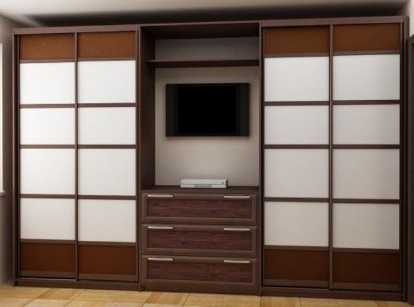 Шкаф-купе для гостиной: варианты конструкции, критерии выбора