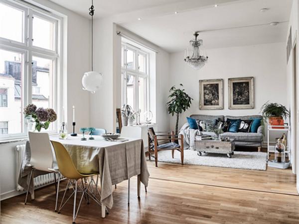 Модные синие акценты в скандинавском дизайне